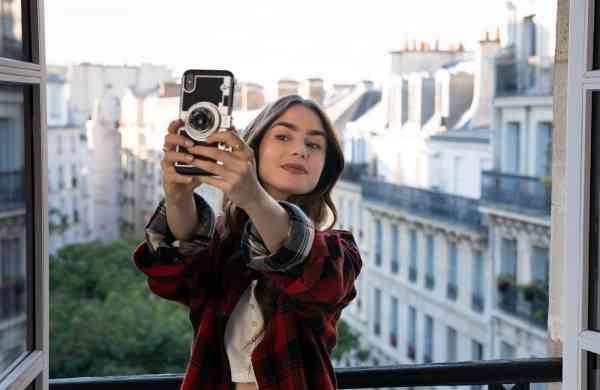 Emily In Paris Shows Selfie Imgae