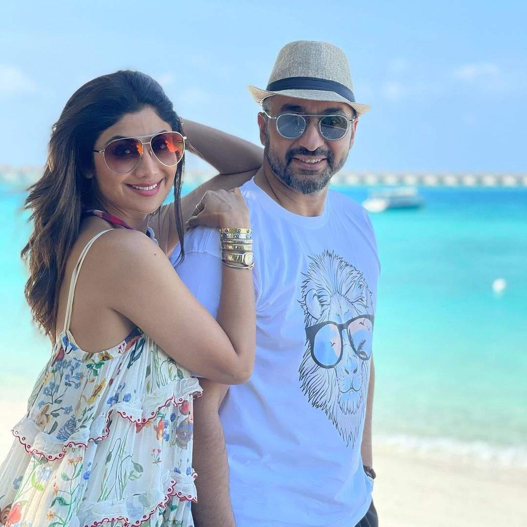 Shilpa with her husband Raj Kundra