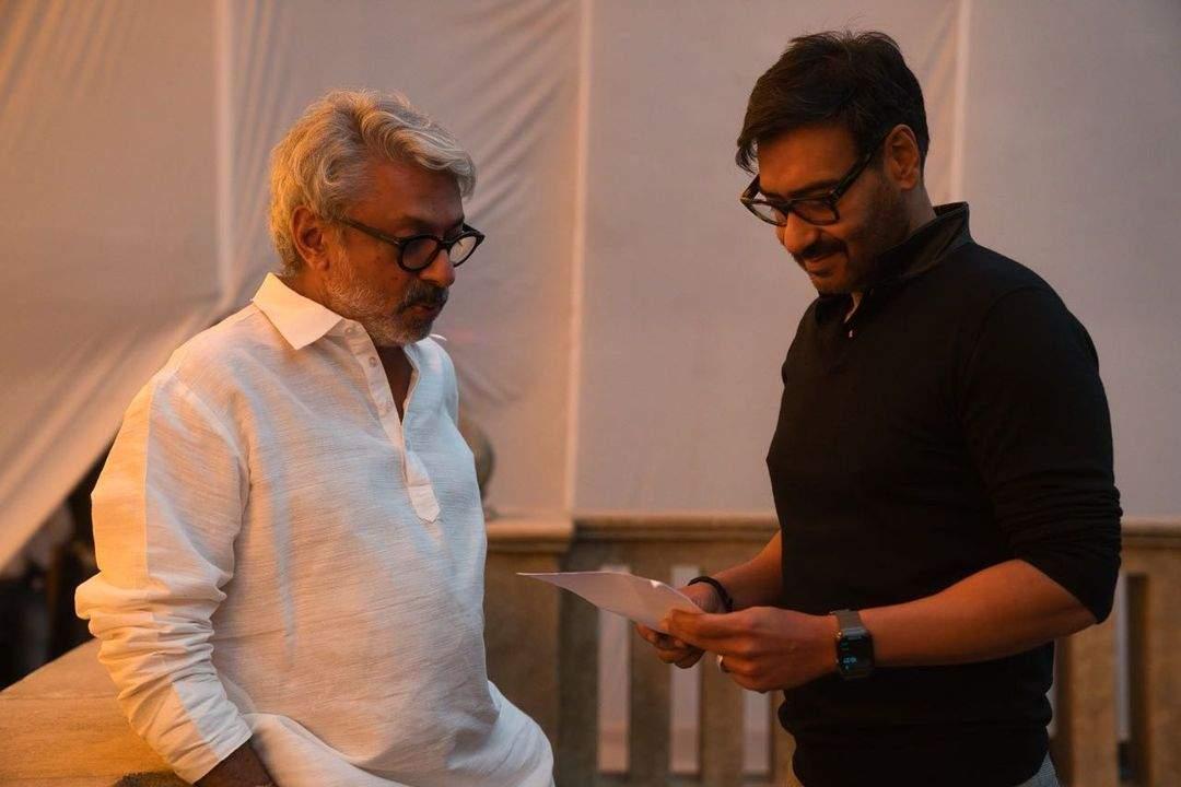 Ajay Devgn and Sanjay Leela Bhansali together