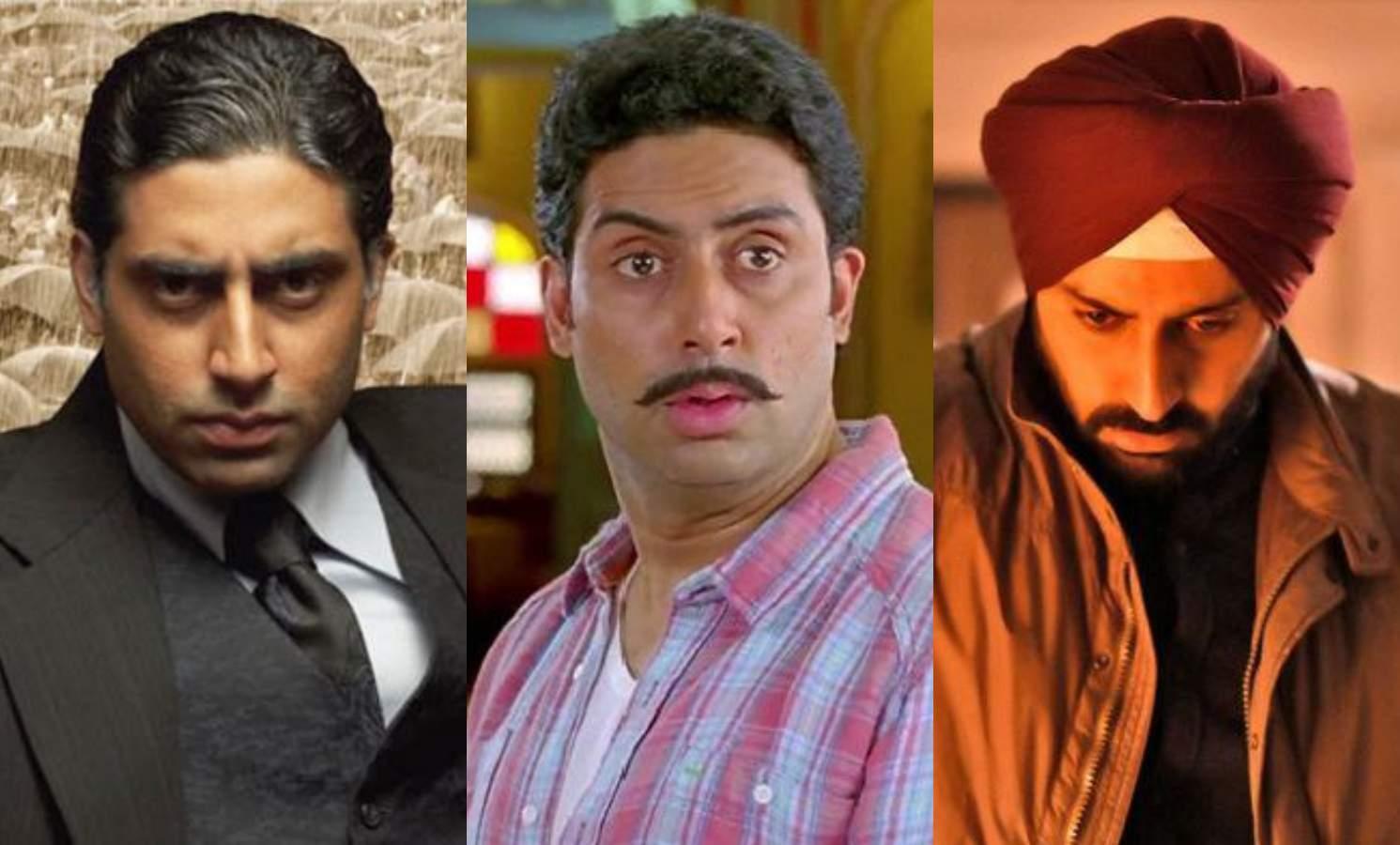 Abhishek Bachchan in Guru, Bol Bachchan, and Manmarziyaan