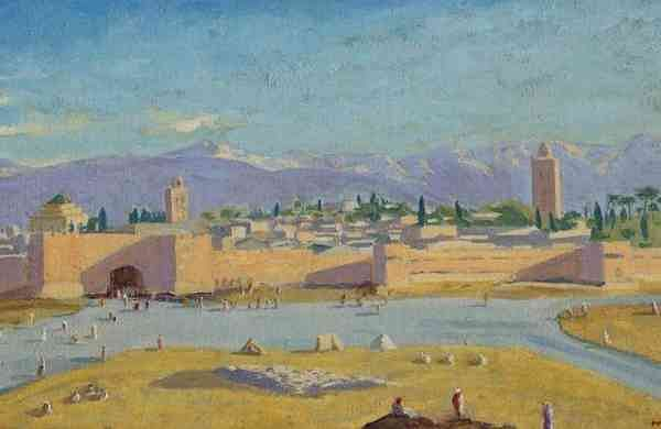Sir Winston Churchill's only wartime painting offered at Christie's auction