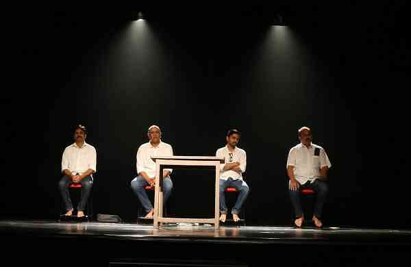 A scene from the play Janashatru