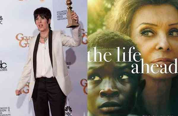Diane Warren and a poster of the film