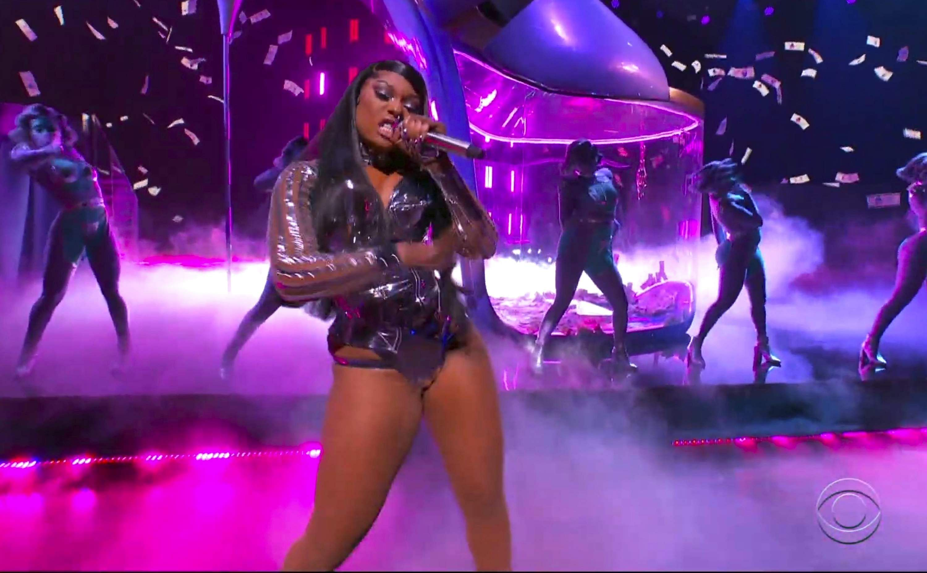 Picture credit: AP/ CBS (In this video grab provided by CBS and the Recording Academy, Megan Thee Stallion performs 'WAP' at the 63rd annual Grammy Awards at the Los Angeles Convention Center)