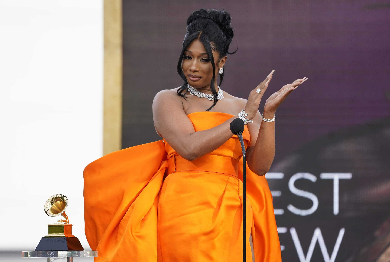 Megan Thee Stallion wins best new artist Grammy