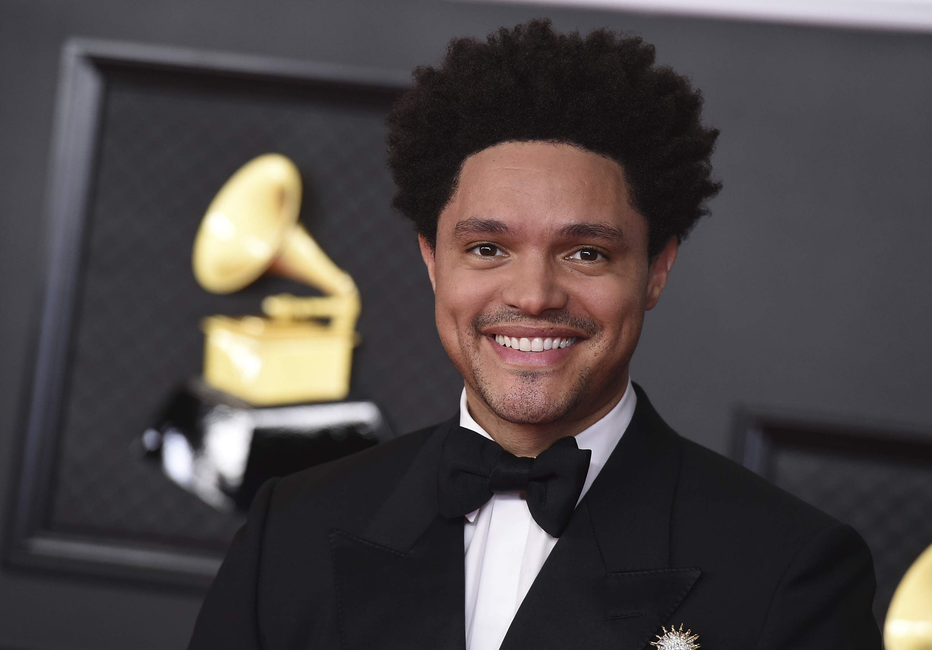 Trevor Noah at the Grammys. Photo credit: AP