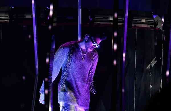 Bad Bunny and Jhay Cortez performing at THE 63rd ANNUAL GRAMMY® AWARDS, broadcast live from the STAPLES Center in Los Angeles. Picture: Francis Specker/CBS