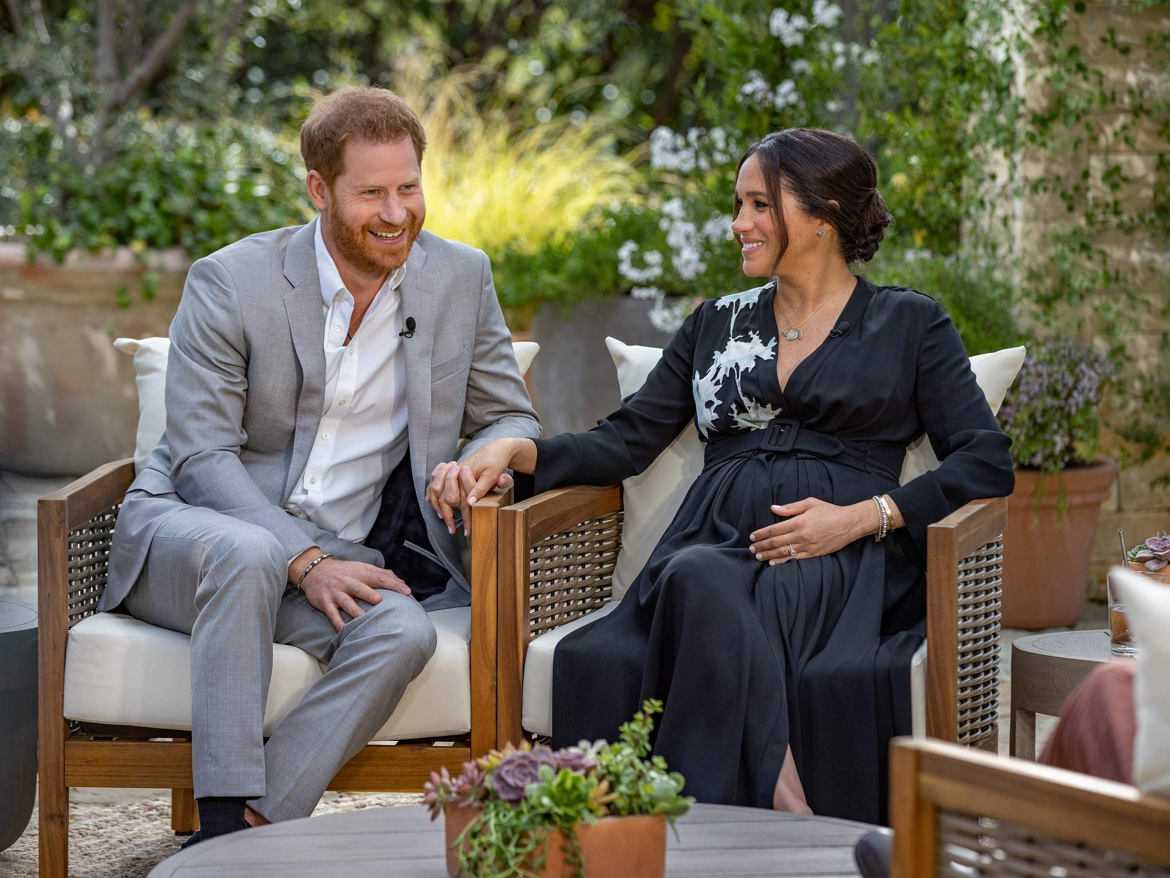Harry and Meghan with Oprah Winfrey