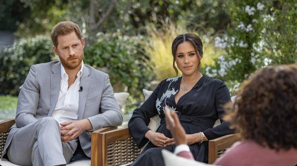 Meghan Markle and Harry with Oprah Winfrey