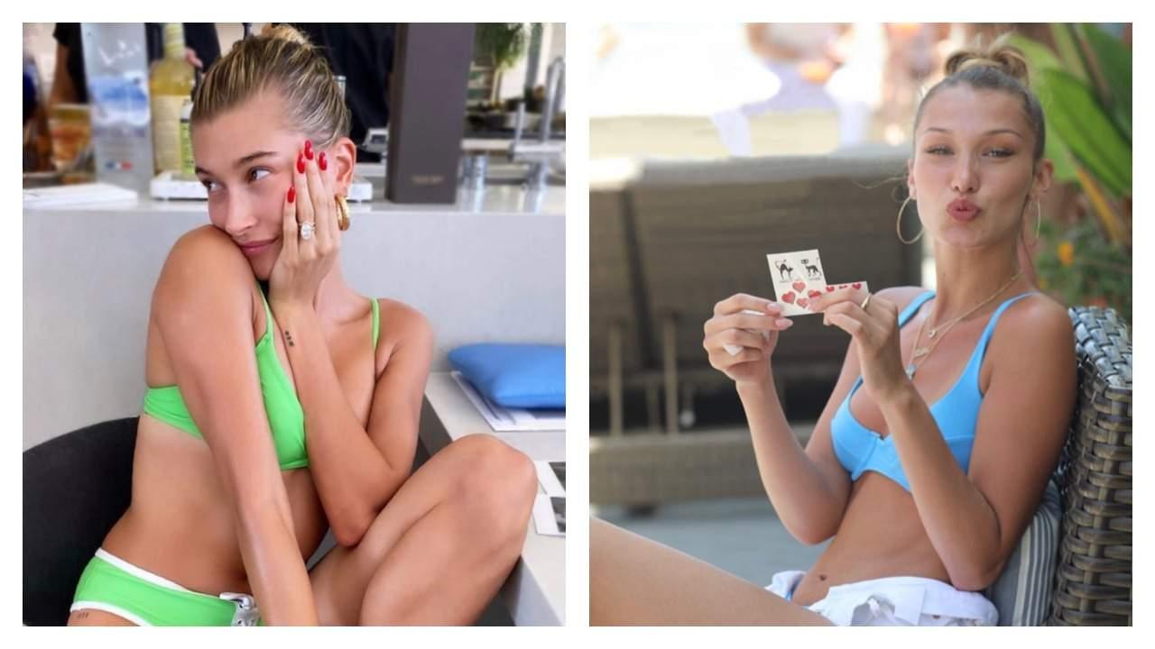 Hailey Baldwin Bieber and Bella Hadid in OOKIOH