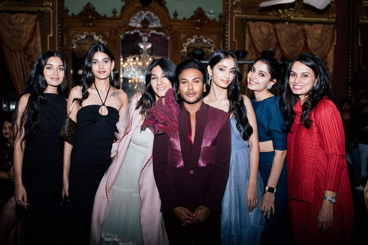 Sandeep Molugu and the models he worked with