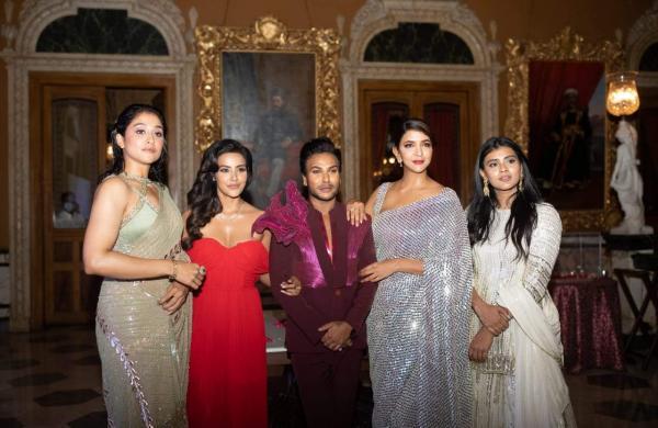 Sandeep with the ladies