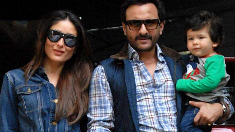Kareena Kapoor Khan and Saif Ali Khan with Taimur