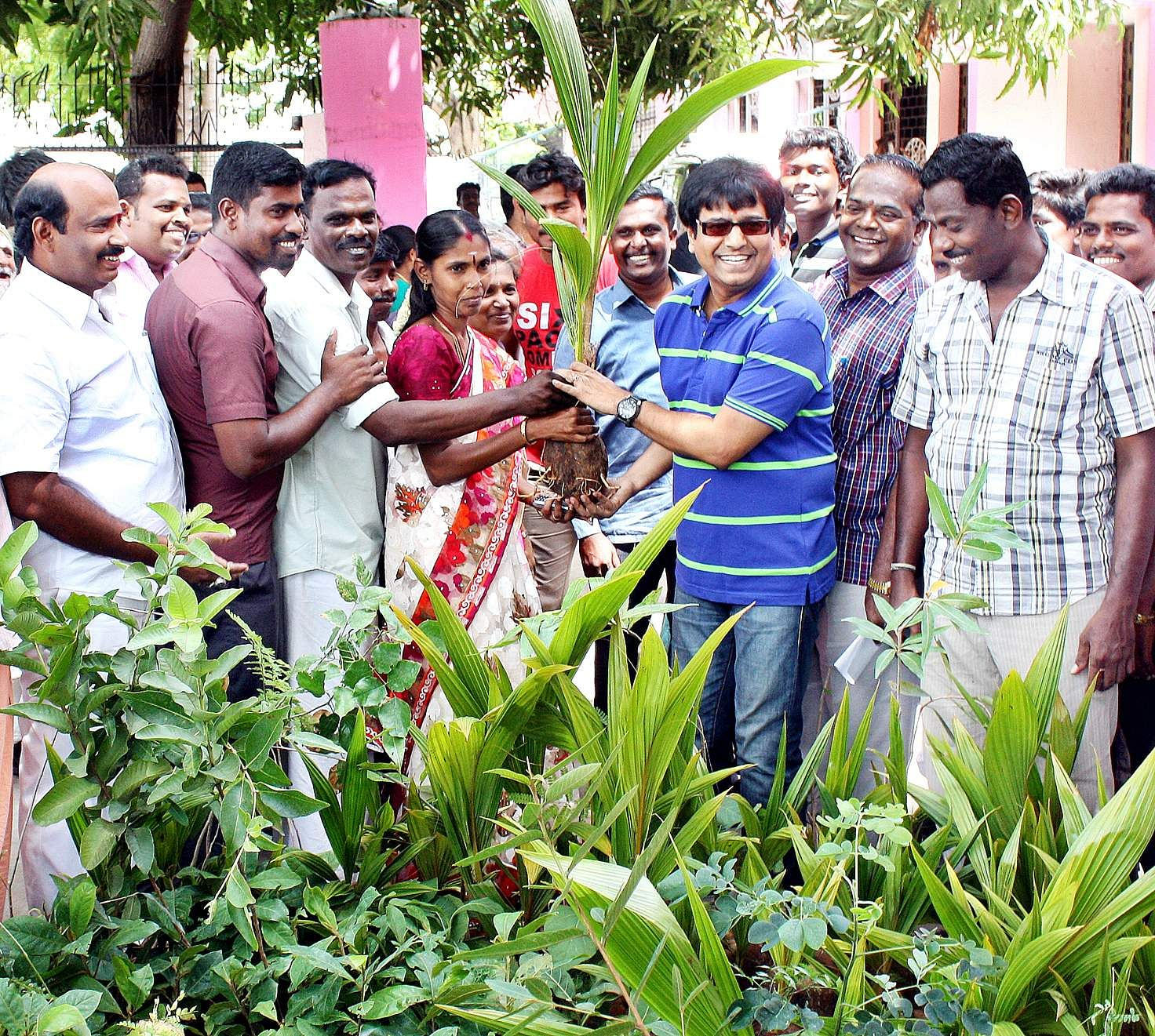 Vivekh had started a movement to plant a billion trees across Tamil Nadu