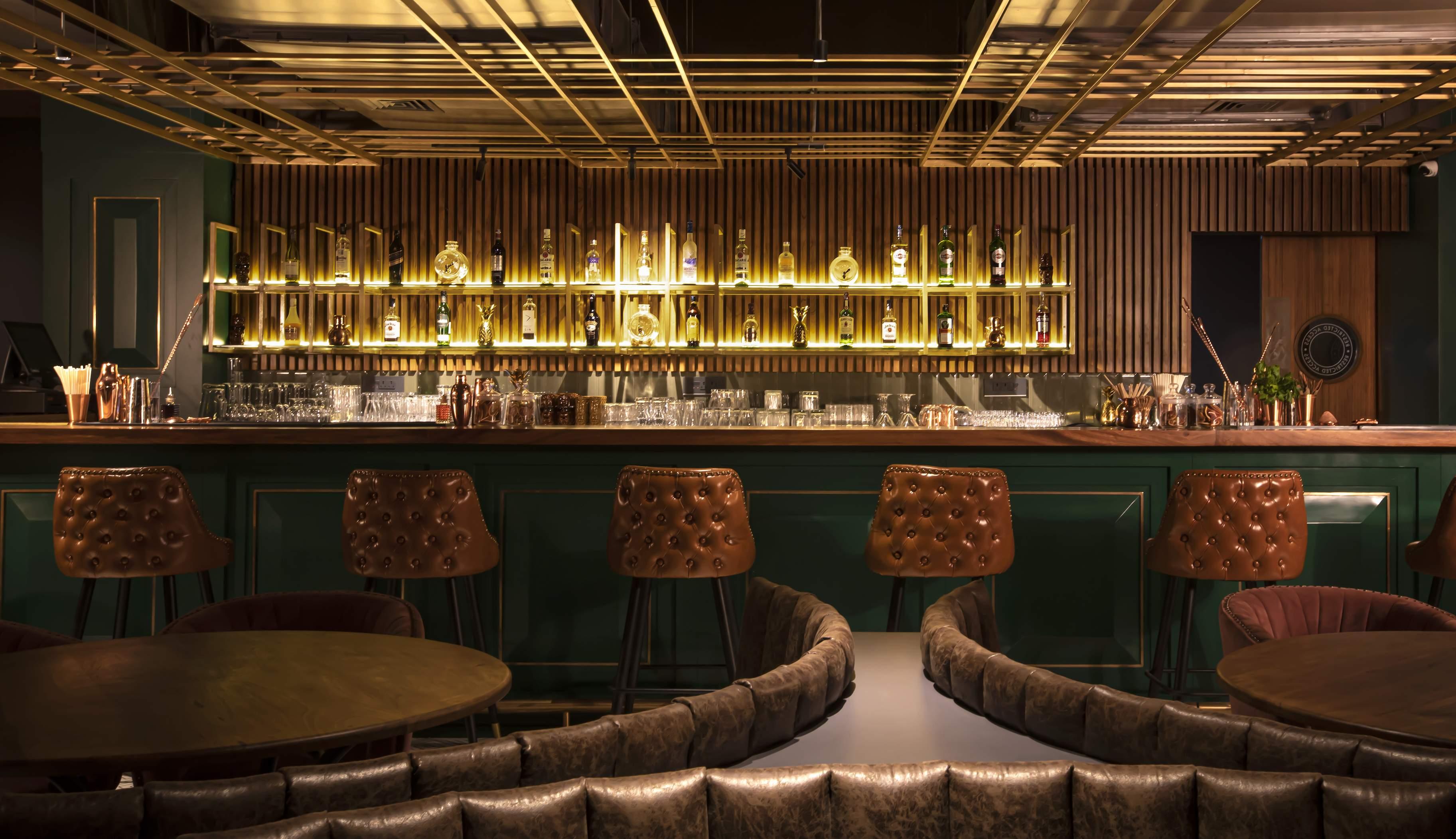 The bar at Gawky Goose
