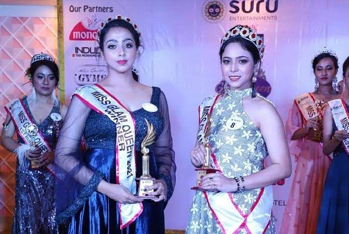 Sarmistha_Basu_and_Shreya_Das,_winners_of_Ms_and_Mrs_Glam_Queen_2021