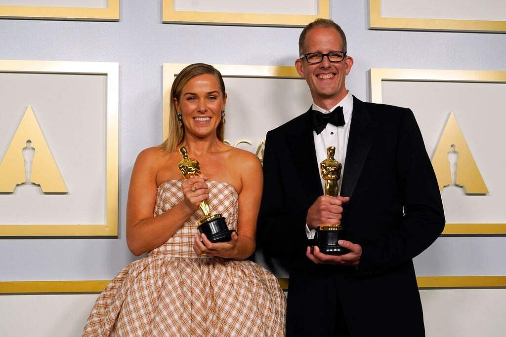 Dana Murray (left) and Pete Docter. Image courtesy: AP