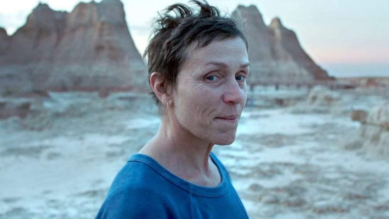 Frances McDormand from Nomadland