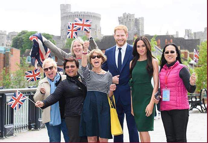 Harry and Meghan's wax works, image courtesy: Madame Tussaud's website