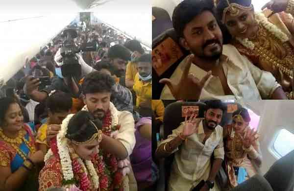 Madurai couple that got married mid-air on a SpiceJet flight