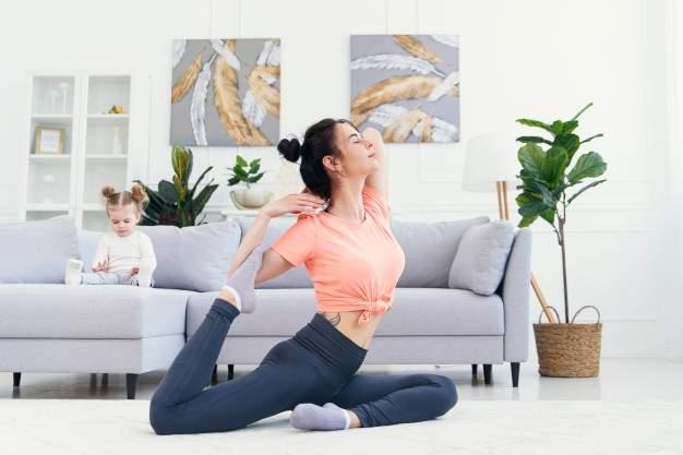 Post pregnancy Yoga helps woman's health