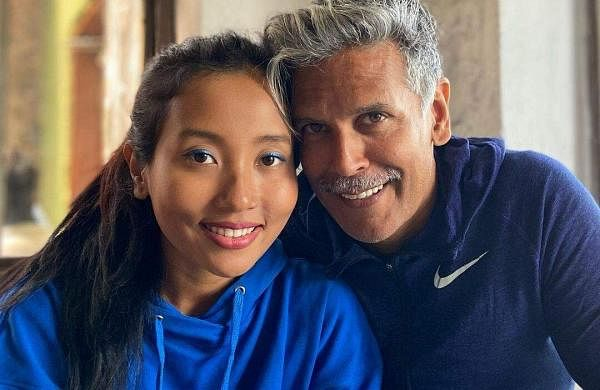 Milind Soman's wife Ankita Konwar responds to the question of age gap between them