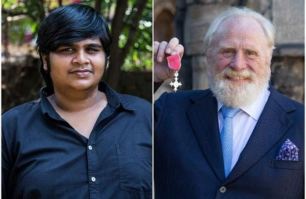 Director Karthik Subbaraj (right) and Game of Thrones actor James Cosmo (right)