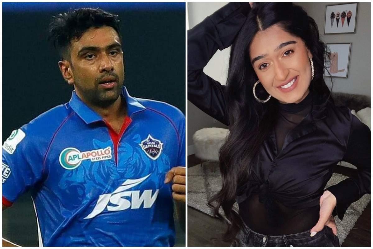 Cricketer Ravichandran Ashwin (left) and content creator Niharika NM (right)