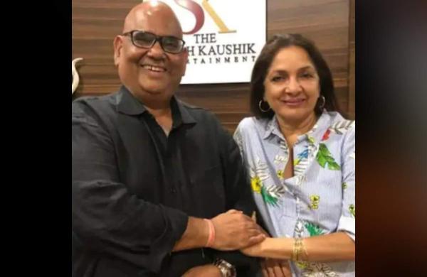 Satish Kaushik with Neena Gupta