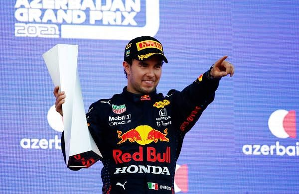 Red Bull's Sergio Perez wins Azerbaijan Grand Prix afterMax Verstappen's tyre blows out