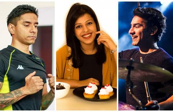 Things to do/weekend events: Lifestyle coach Luke Coutinho (left), Master Chef Kirti Bhoutika (centre), and drummer Sahil Sarin (right)