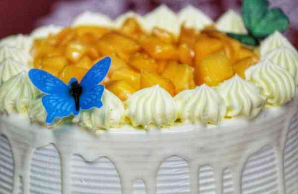 Mango Truffle Cake from The Cake Brick