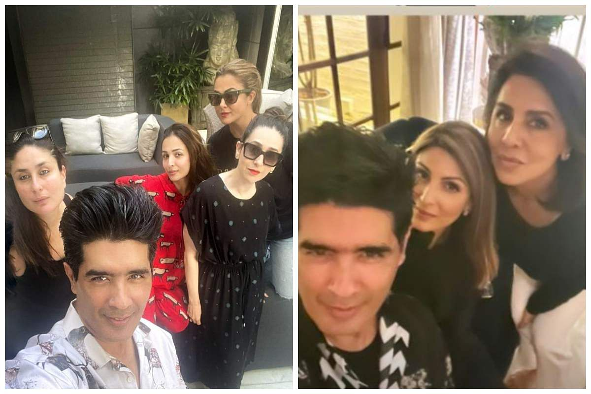 ManishManish Malhotra hosts a party at his residence for Kareena Kapoor Khan, Karisma Kapoor, Malaika Arora, Amrita Arora, Raddhima Kapoor and Neetu Kapoor