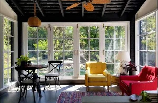Upcycled and reused interiors at Honey's Chic Luxury Cottage