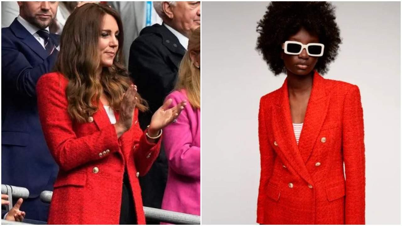 Kate Middleton Zara red blazer