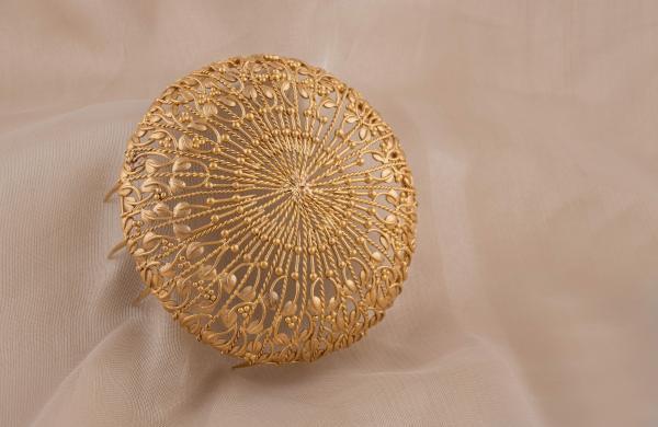 A bun accessory by Kavya Potluri
