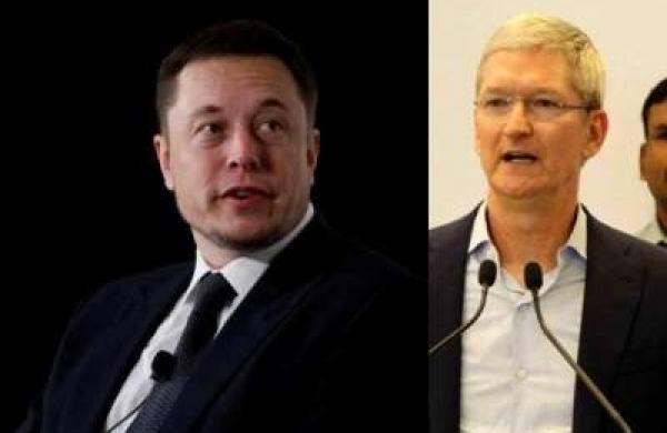 Elon Musk and Tim Cook
