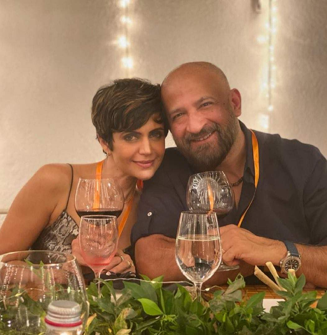 Mandira Bedi shared a set of throwback pictures with her husband Raj Kaushal