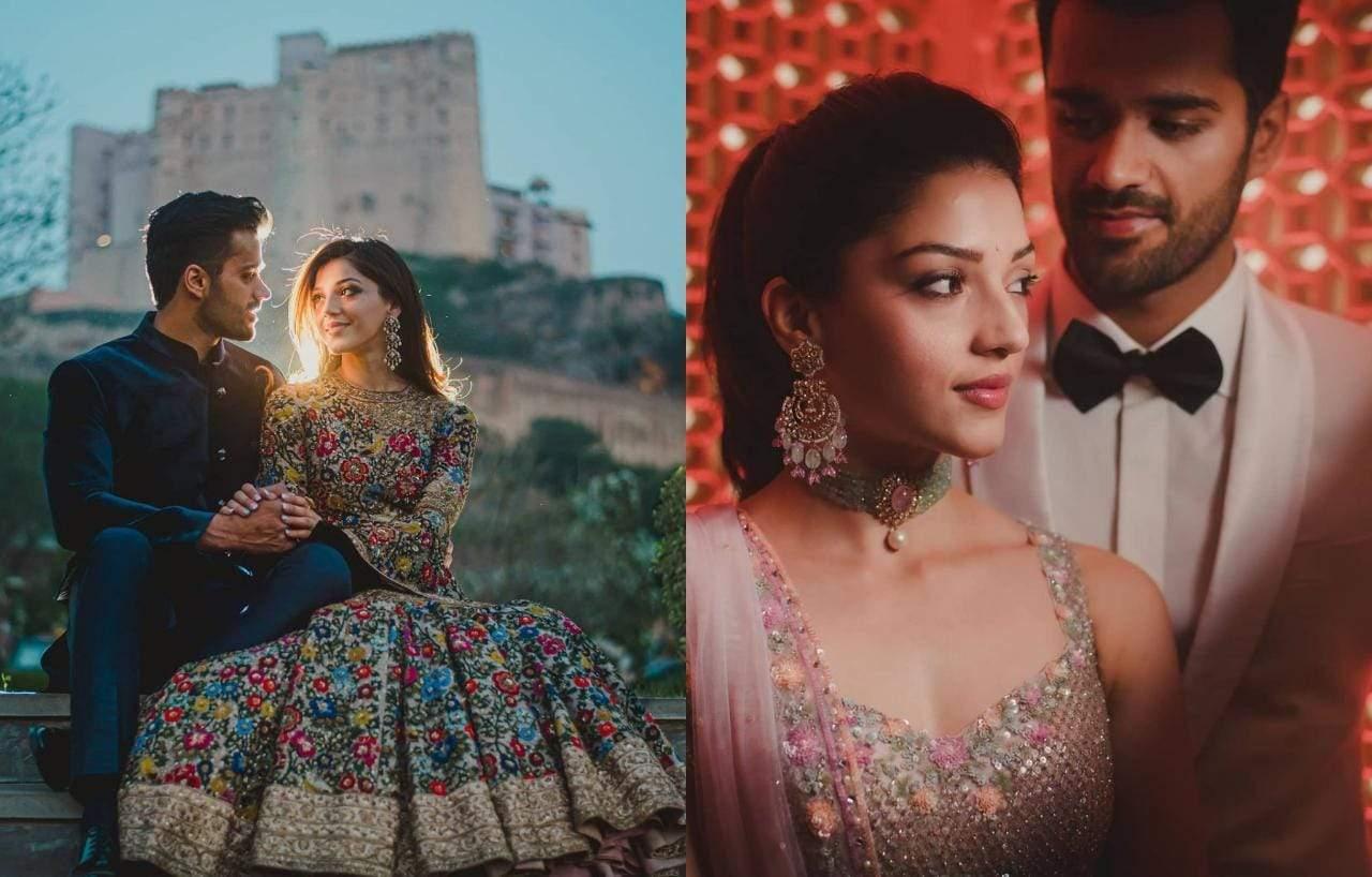 Actress Mehreen And Bhavya Bishnoi Engagement