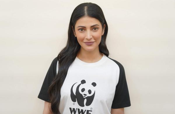 Shruti Haasan Wwf India'S Brand Ambassador