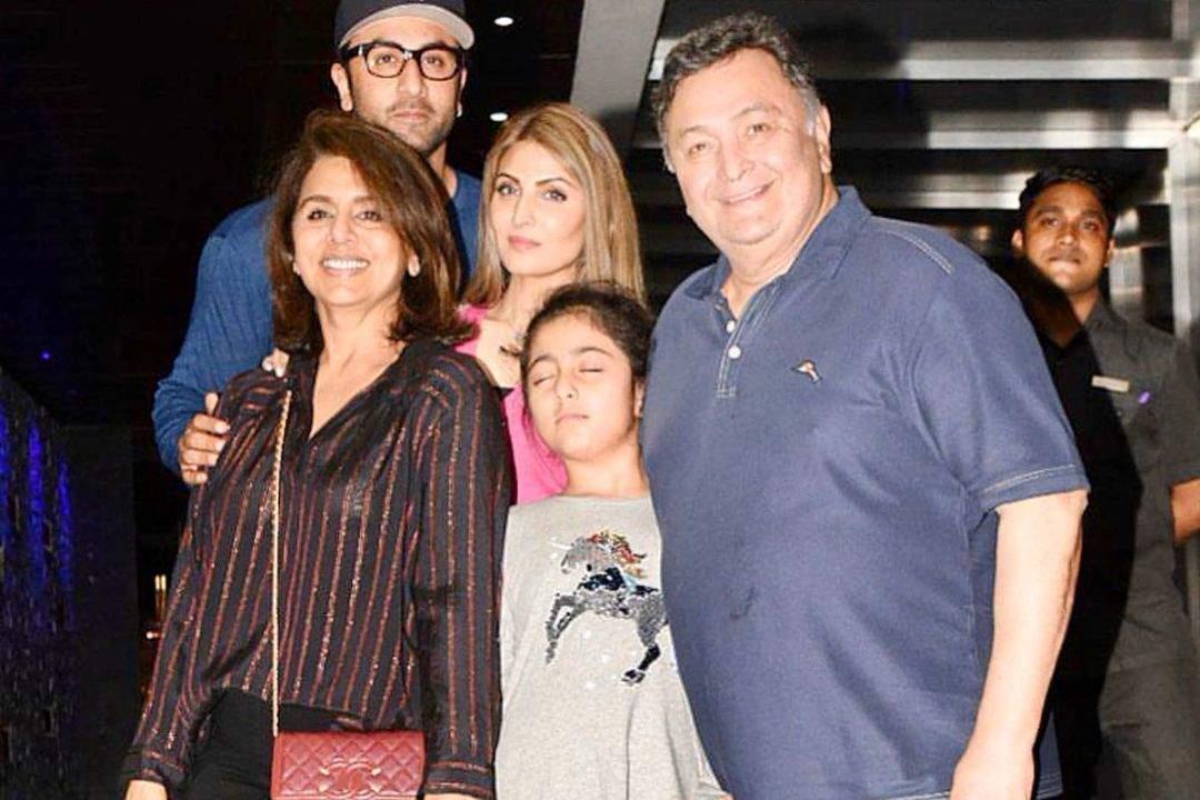 Neetu Kapoor with her family, Neetu Kapoor birthday