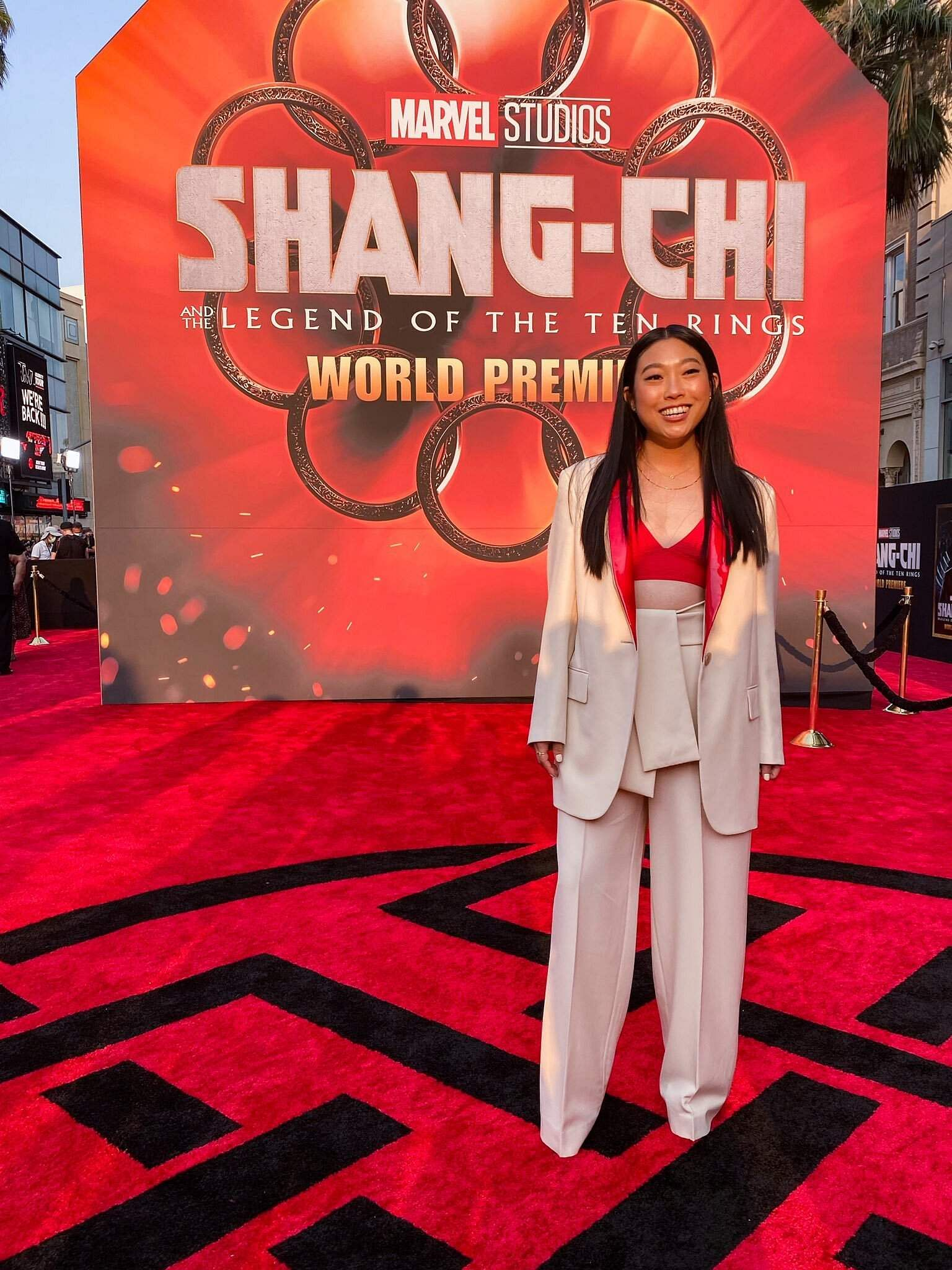 Awkwafina at the premiere of Shang-Chi and the Legend of the Ten Rings