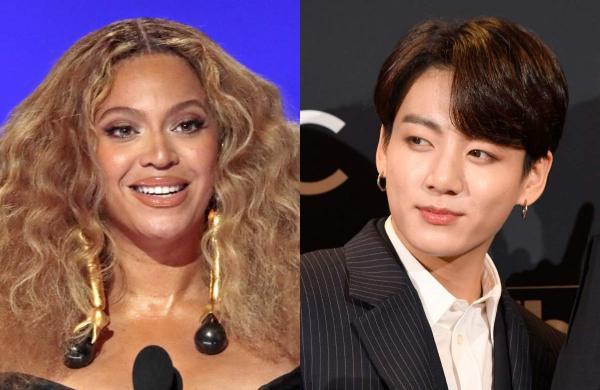 Beyoncé (left) and BTS member Jeon Jung-kook (right)