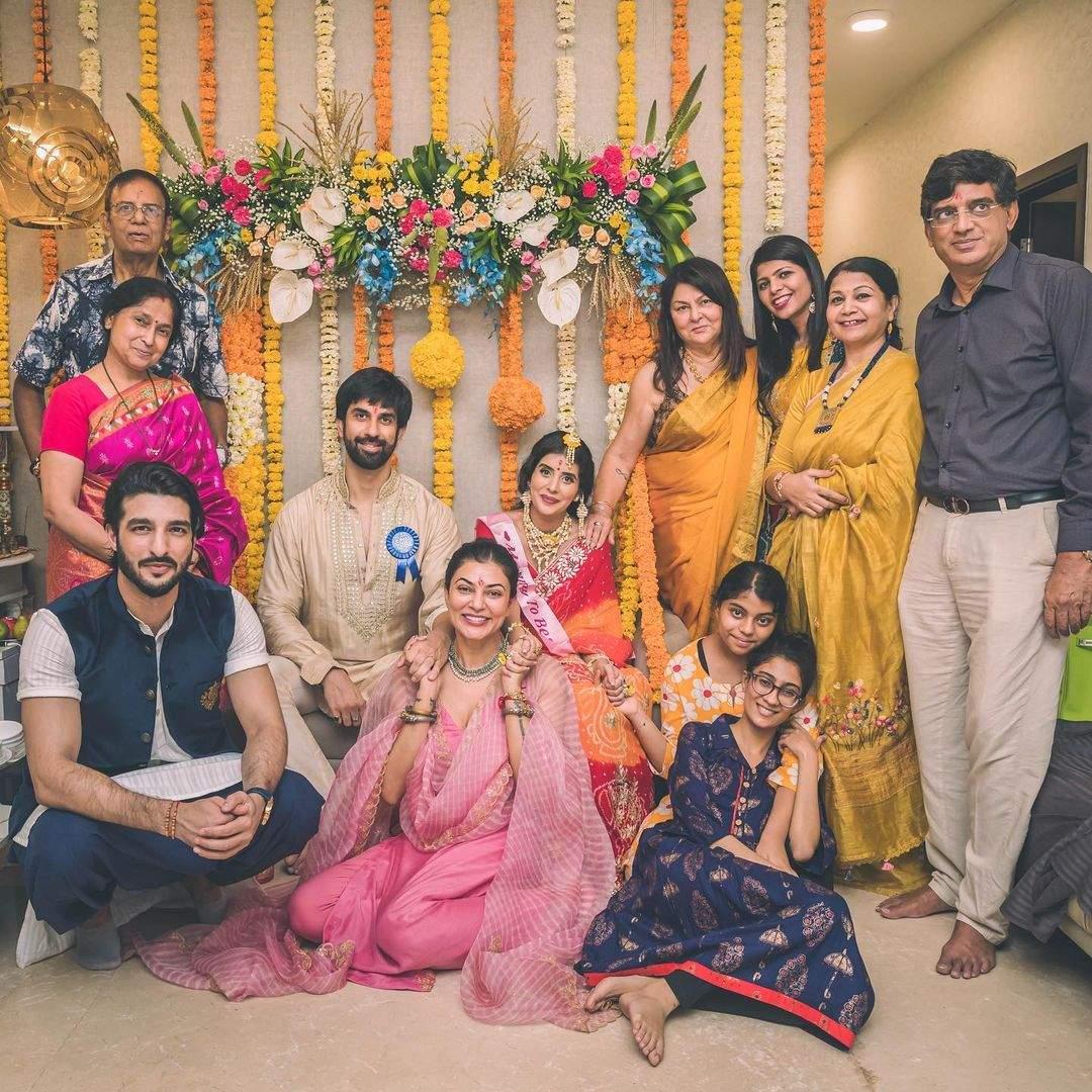 Actress Charu Asopa baby shower, pregnancy, Rajeev Sen, Sushmita Sen