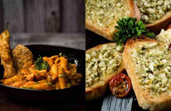 Pasta and Garlic Bread
