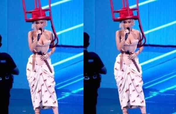 MTV VMAs 2021: Doja Cat's 'chair hat' look goes viral