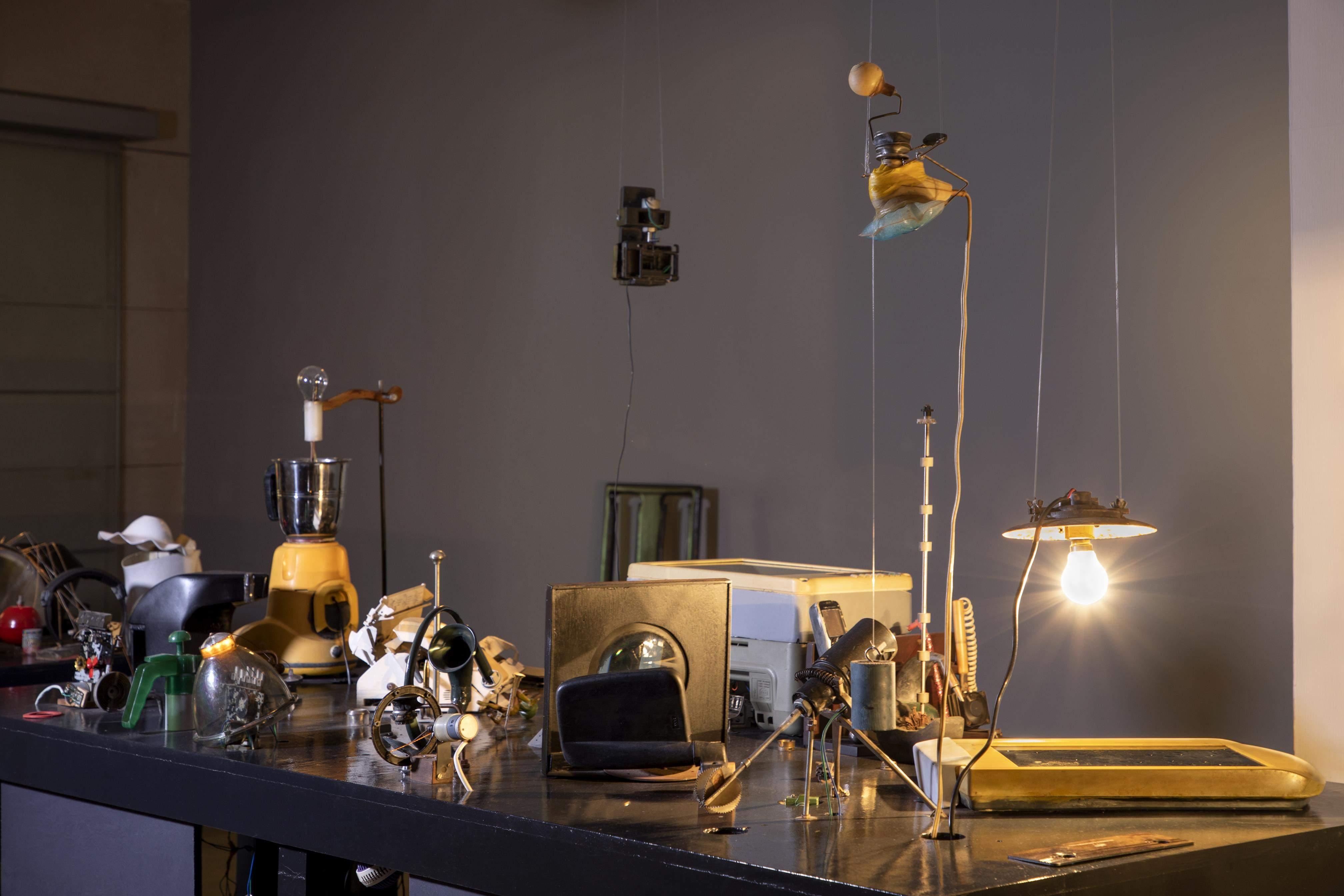 Kaushik Mukhopadhyay's Small, Medium But Not Large, a kinetic installation