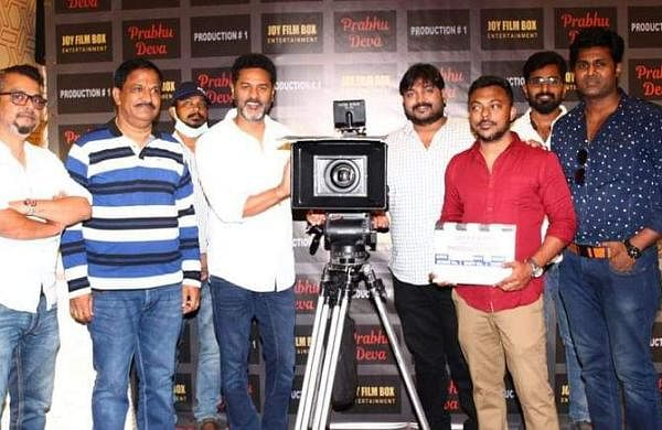 Prabhudheva at the pooja ceremony for his new action-thriller